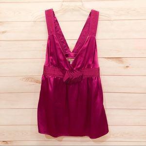 See by Chloe Size 6 Fuchsia Silk Top